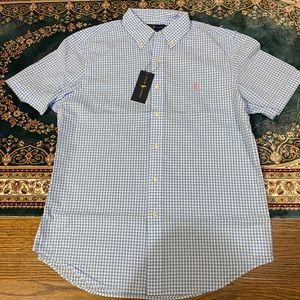 New Ralph Lauren Polo seersucker Men's shirt M
